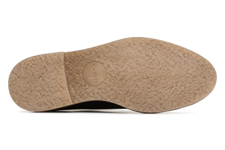 Chaussures à lacets Kickers Oxfork Violet vue haut