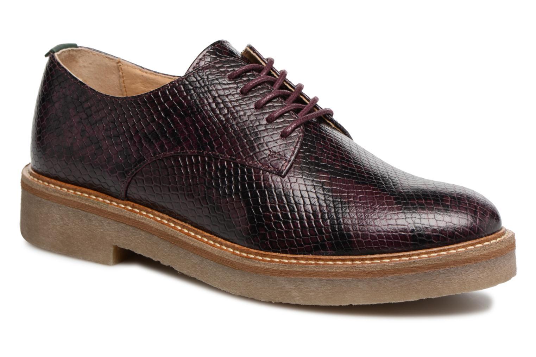 Chaussures à lacets Kickers Oxfork Violet vue détail/paire
