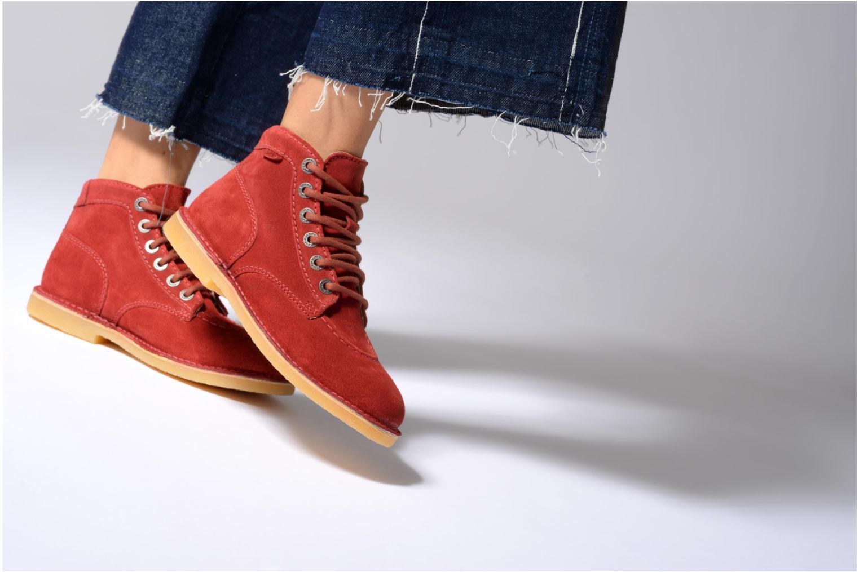 Chaussures à lacets Kickers Orilegend F Gris vue bas / vue portée sac