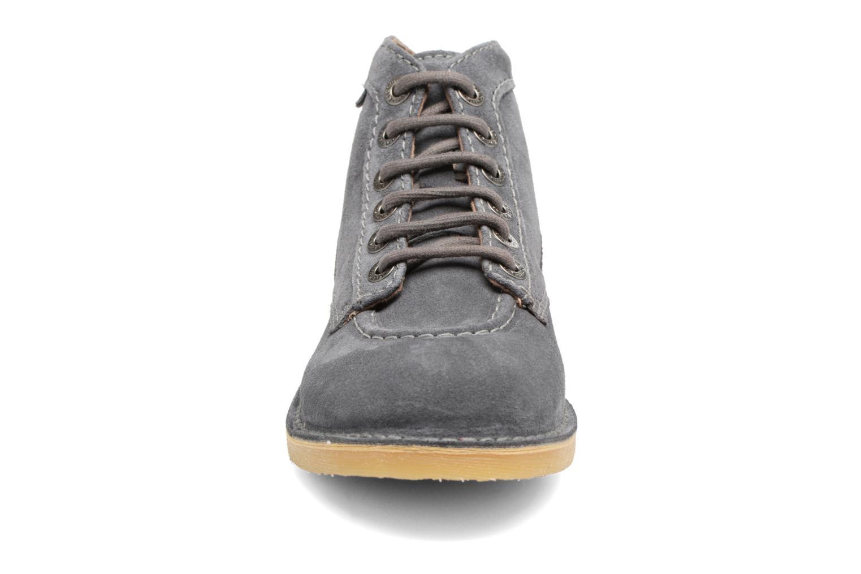 Chaussures à lacets Kickers Orilegend F Gris vue portées chaussures