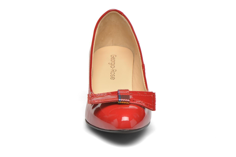 Escarpins Georgia Rose London Rouge vue portées chaussures