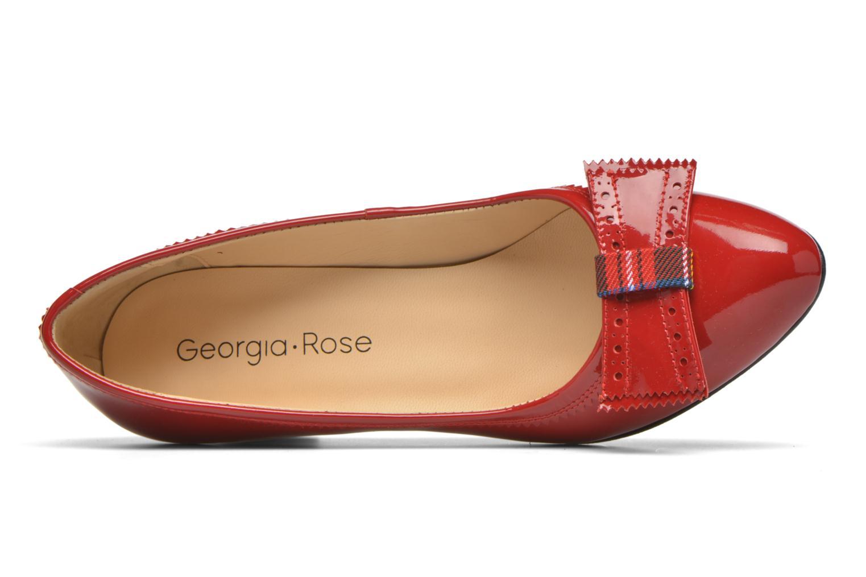 Escarpins Georgia Rose London Rouge vue gauche