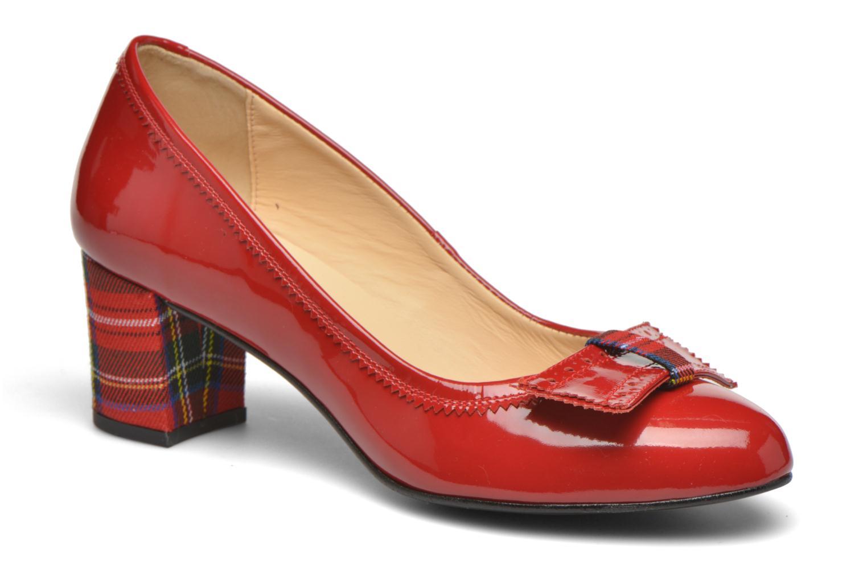 Escarpins Georgia Rose London Rouge vue détail/paire