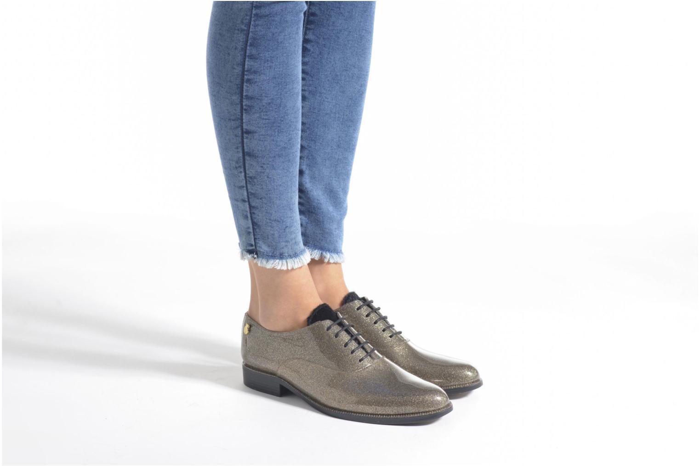 Chaussures à lacets Lemon Jelly Sparkle Or et bronze vue bas / vue portée sac
