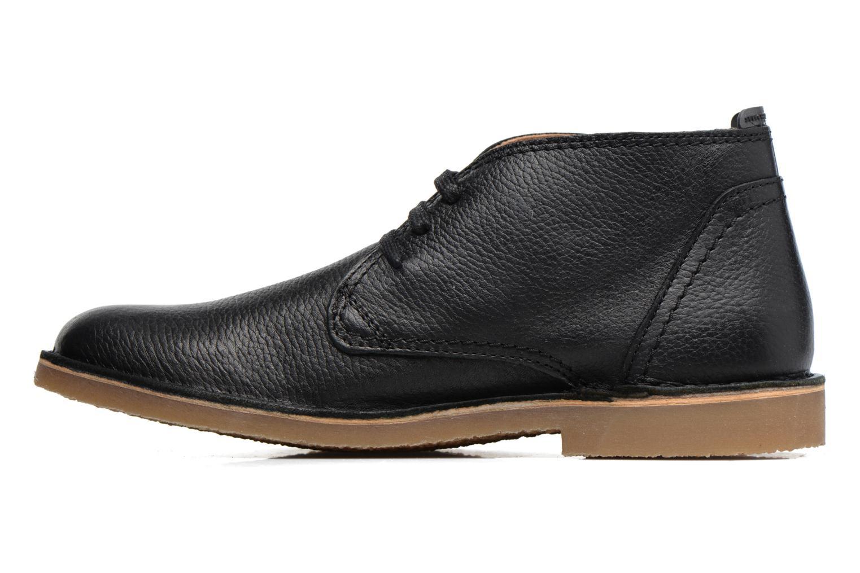 Chaussures à lacets Selected Homme New Royce Noir vue face