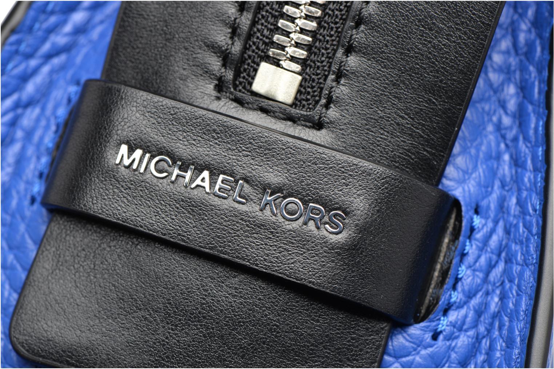 Bolsos de mano Michael Michael Kors INGRID MD Shoulder Azul vista lateral izquierda