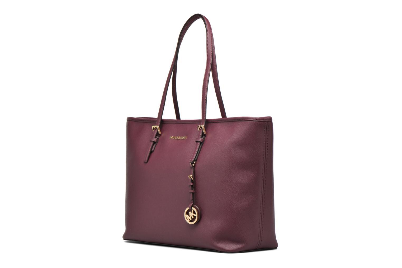 Handbags Michael Michael Kors JET SET Travel MD TZ Multifonction Tote Purple model view