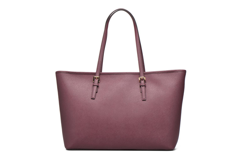 Handbags Michael Michael Kors JET SET Travel MD TZ Multifonction Tote Purple front view