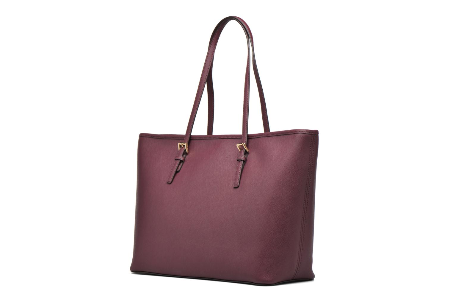 Handbags Michael Michael Kors JET SET Travel MD TZ Multifonction Tote Purple view from the right