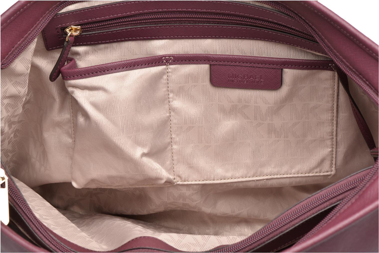 Handbags Michael Michael Kors JET SET Travel MD TZ Multifonction Tote Purple back view