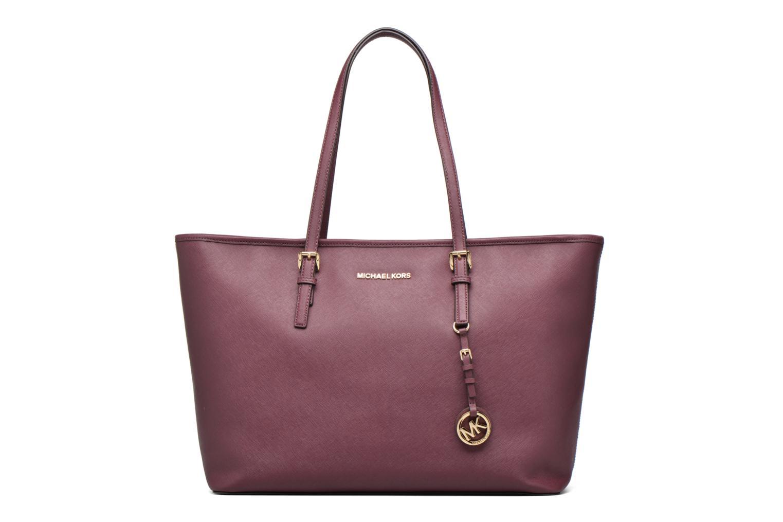 Handbags Michael Michael Kors JET SET Travel MD TZ Multifonction Tote Purple detailed view/ Pair view