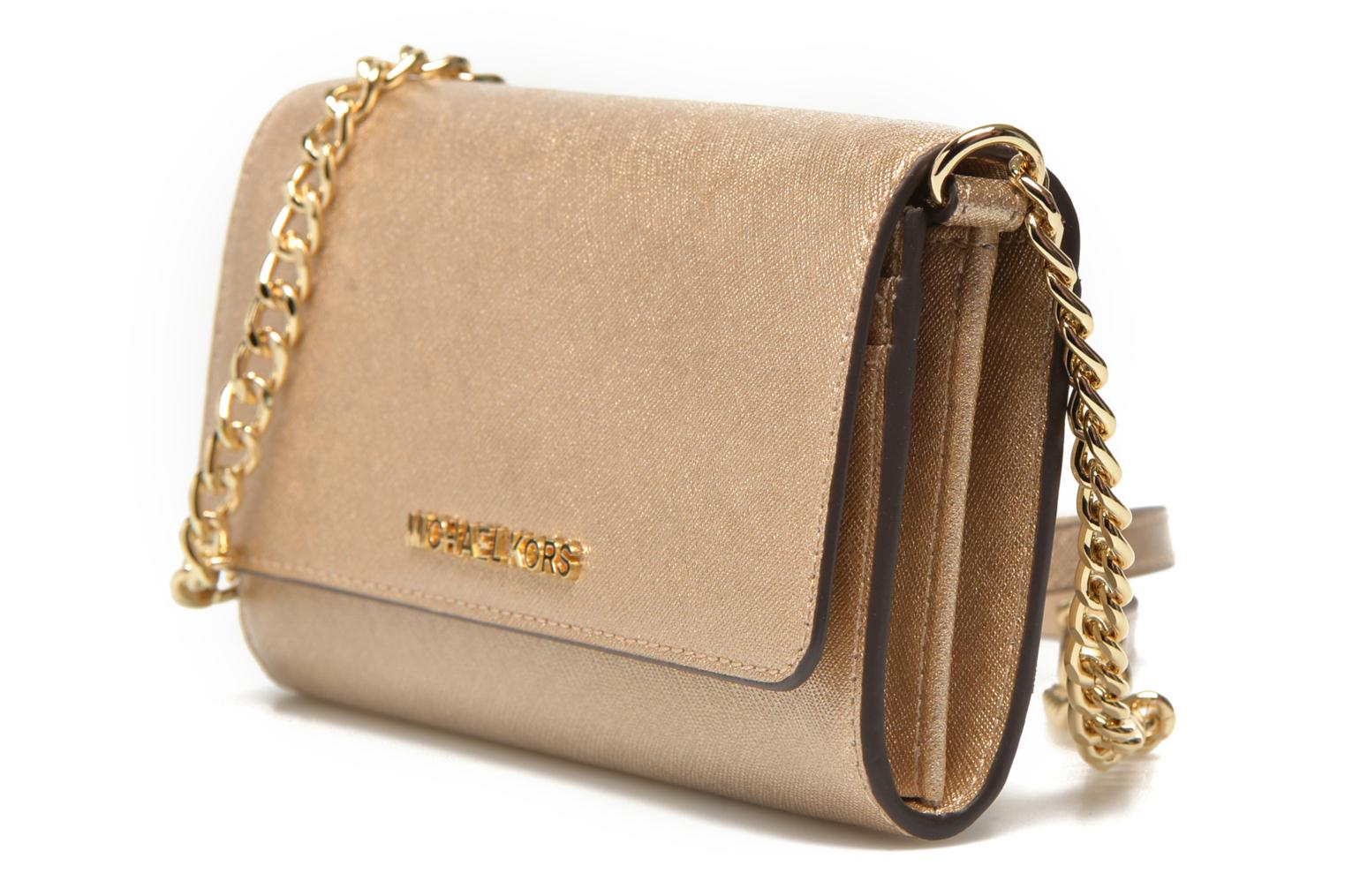 JET SET Travel Wallet on a chain Pale Gold