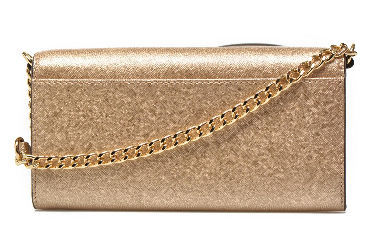 Petite Maroquinerie Michael Michael Kors JET SET Travel Wallet on a chain Or et bronze vue face
