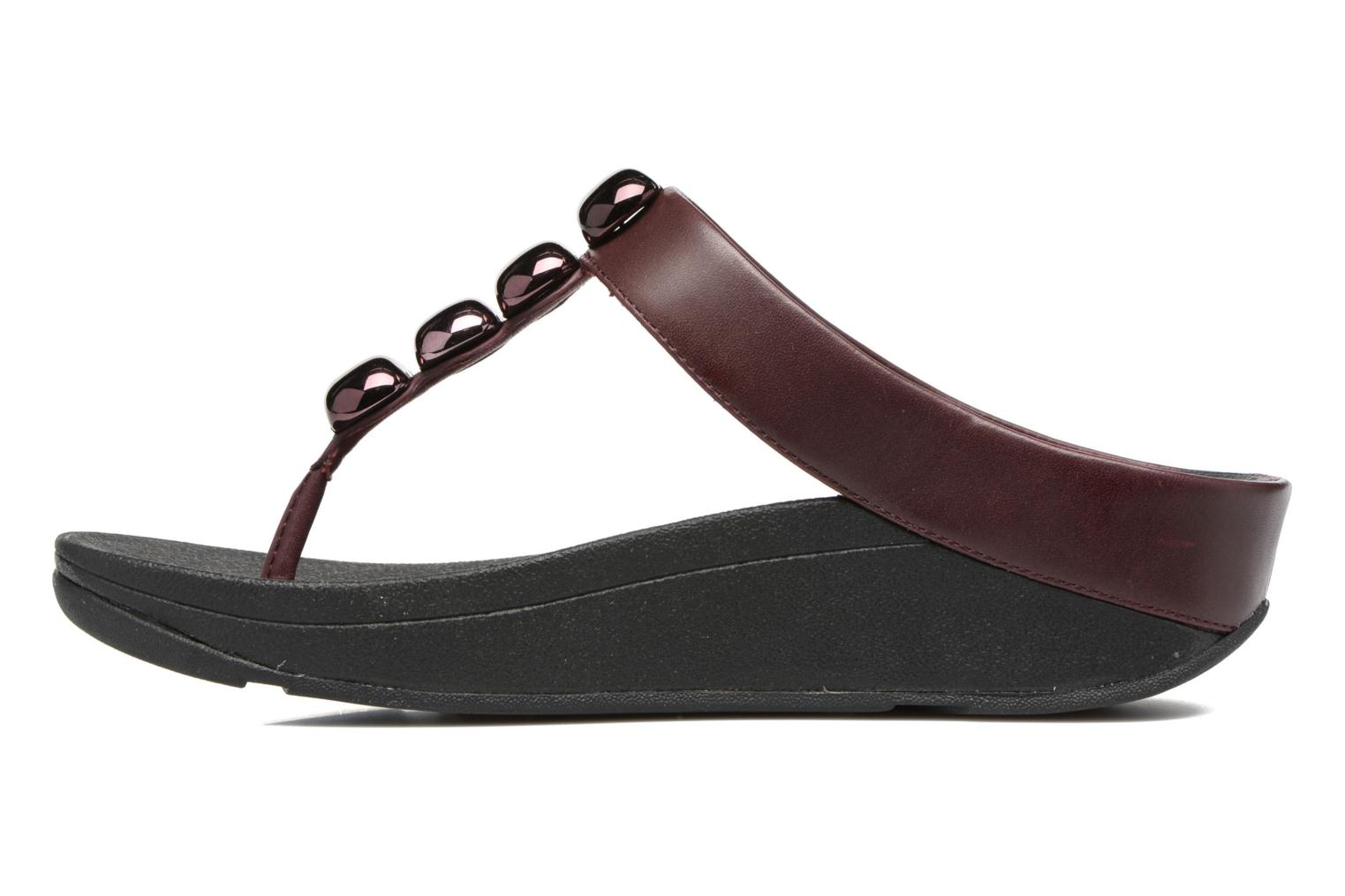 Tongs FitFlop Rola Bordeaux vue face