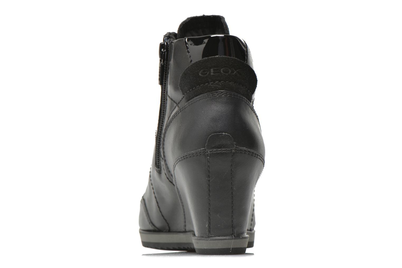 Sneakers Geox D ILLUSION A D4454A Zwart rechts