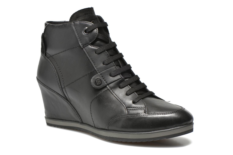 Sneakers Geox D ILLUSION A D4454A Zwart detail
