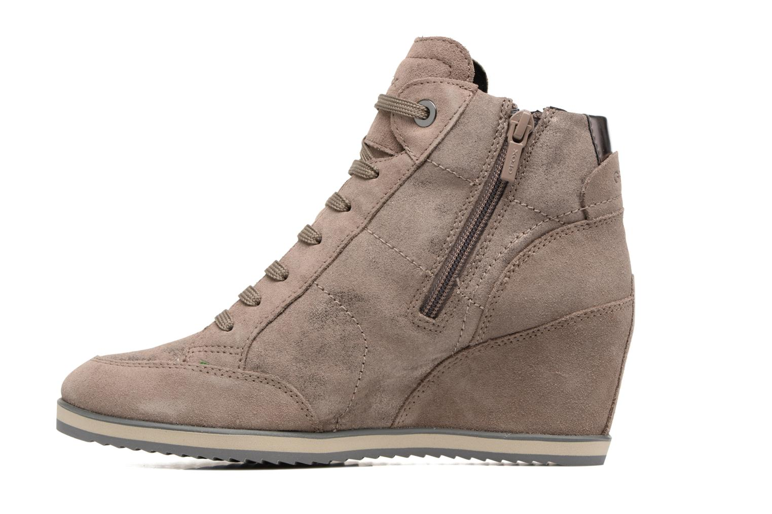 Sneakers Geox D ILLUSION A D4454A Bruin voorkant