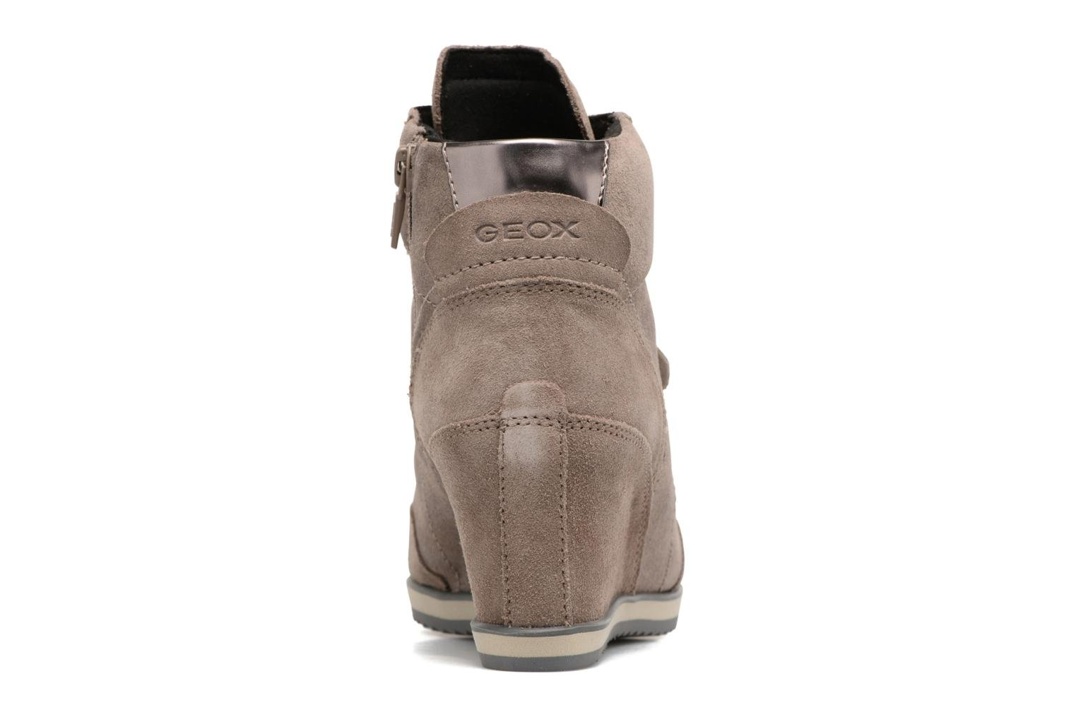 Sneakers Geox D ILLUSION A D4454A Bruin rechts