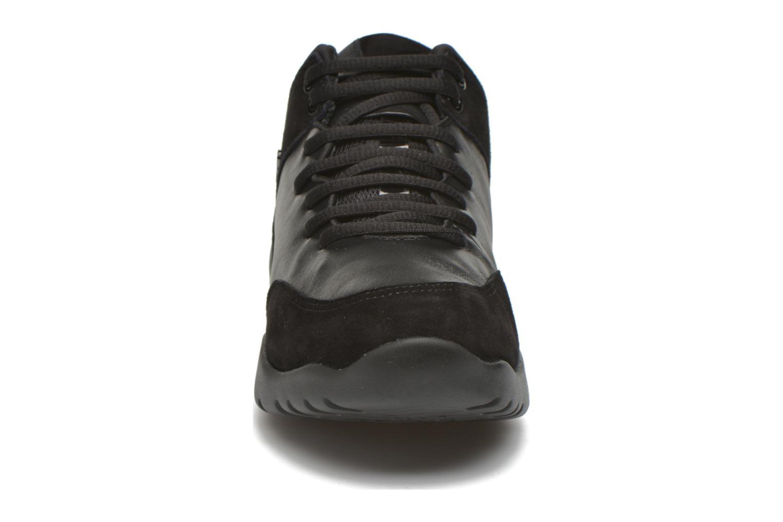 Sneaker Geox D SFINGE A D642NA schwarz schuhe getragen