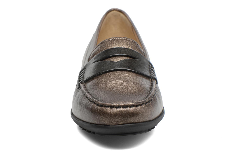 Mocassins Geox D ELIDIA A D642TA Marron vue portées chaussures