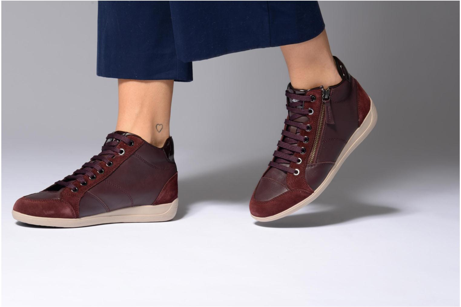 Trainers Geox D MYRIA C D6468C Burgundy view from underneath / model view
