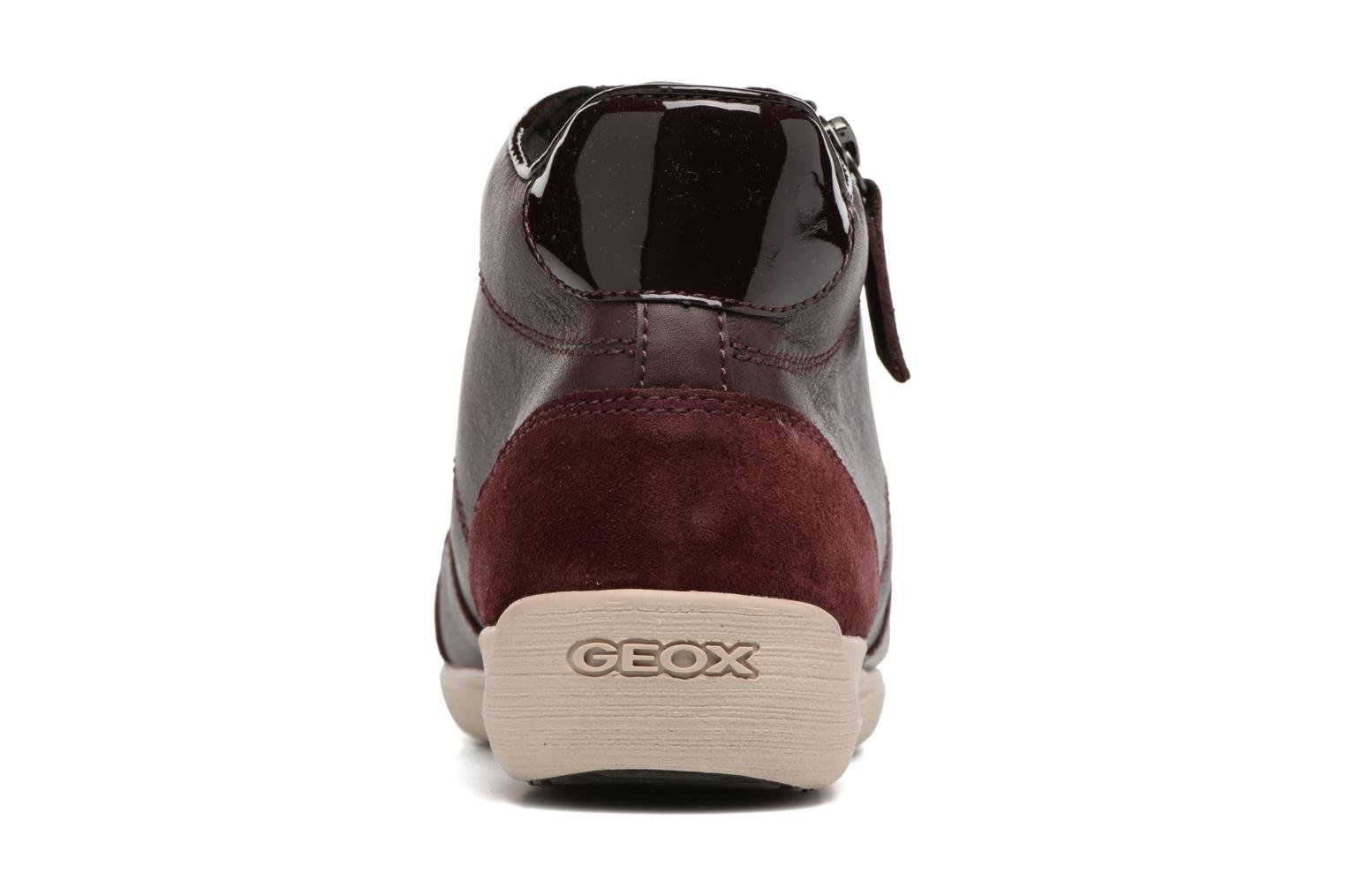 Trainers Geox D MYRIA C D6468C Burgundy view from the right