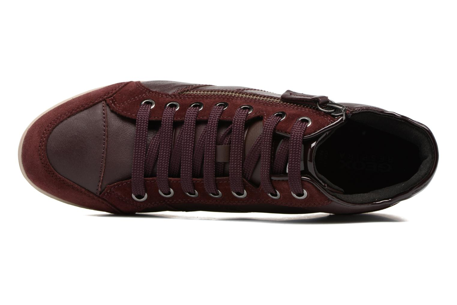 Trainers Geox D MYRIA C D6468C Burgundy view from the left