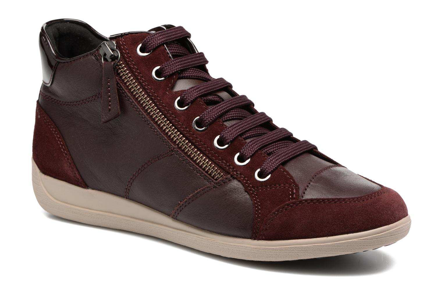 Trainers Geox D MYRIA C D6468C Burgundy detailed view/ Pair view