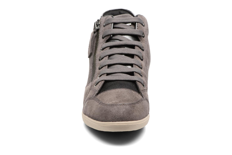 Baskets Geox D MYRIA C D6468C Gris vue portées chaussures
