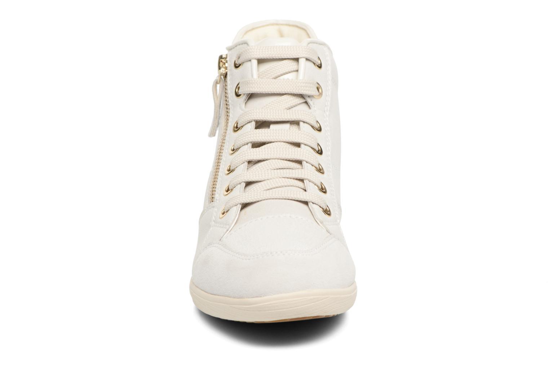 Baskets Geox D MYRIA C D6468C Blanc vue portées chaussures