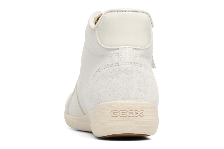 Baskets Geox D MYRIA C D6468C Blanc vue droite