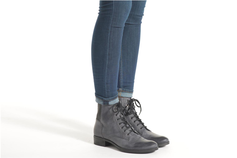 Bottines et boots Geox D MENDI ST B D6490B Gris vue bas / vue portée sac