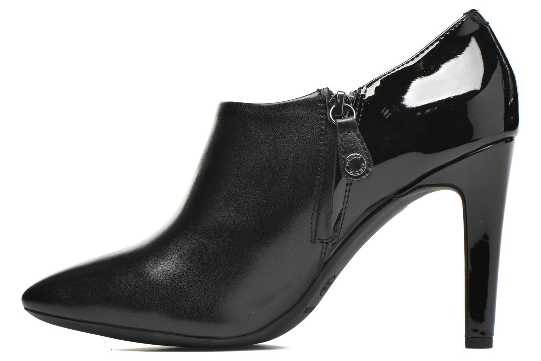 Bottines et boots Geox D CAROLINE A D64W1A Noir vue face
