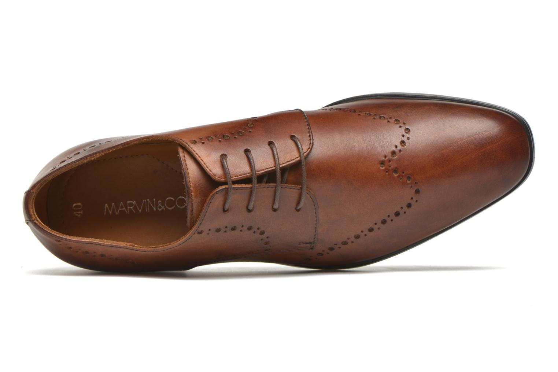 Chaussures à lacets Marvin&Co Nottingham Marron vue gauche