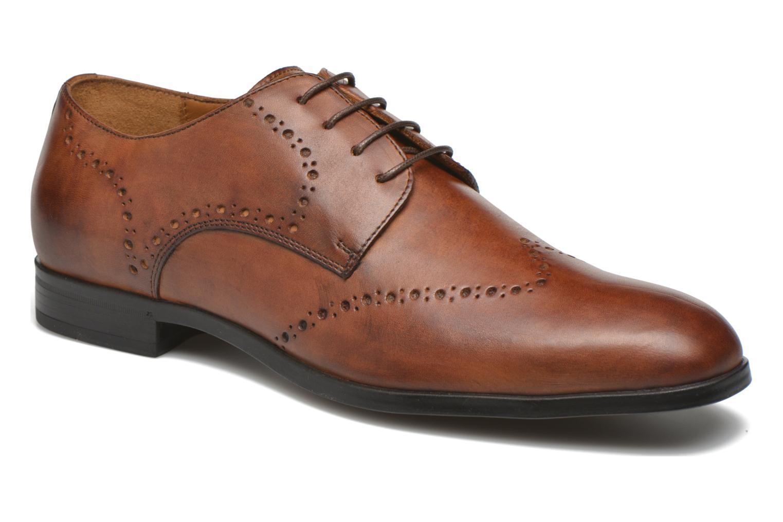 Chaussures à lacets Marvin&Co Nottingham Marron vue détail/paire