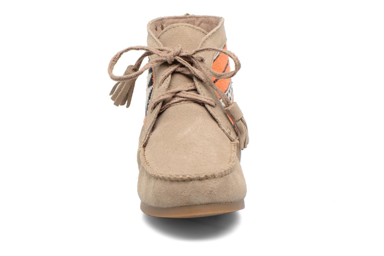 Bottines et boots Les Tropéziennes par M Belarbi Ginika Beige vue portées chaussures