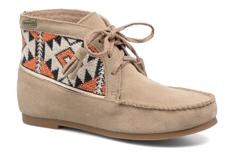 Bottines et boots Les Tropéziennes par M Belarbi Ginika Beige vue détail/paire