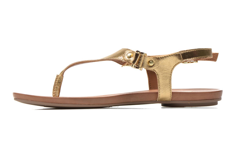 Sandales et nu-pieds Aldo ASHLEY Or et bronze vue face