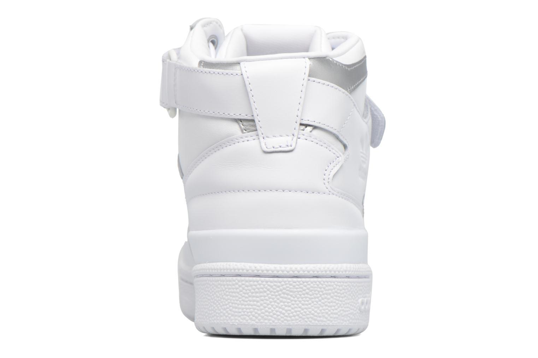 Baskets Adidas Originals Forum Mid Refined Blanc vue droite