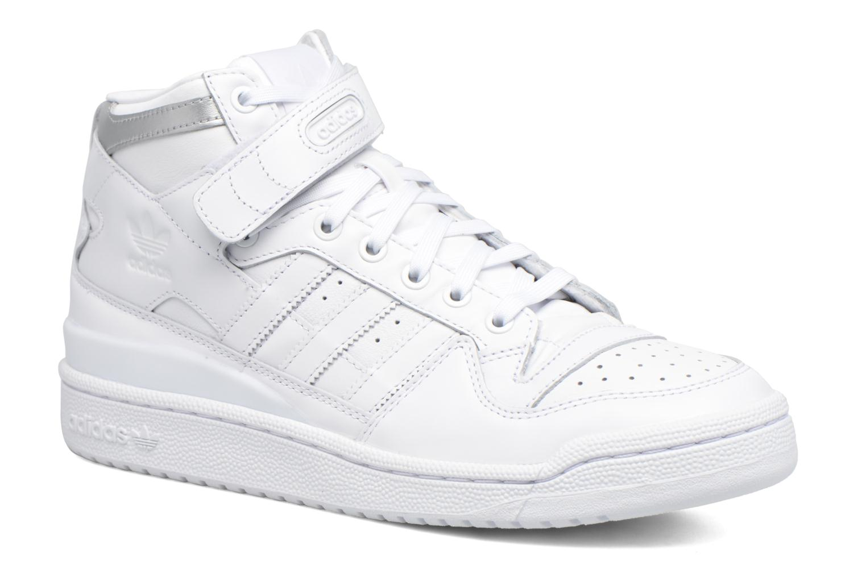 Baskets Adidas Originals Forum Mid Refined Blanc vue détail/paire