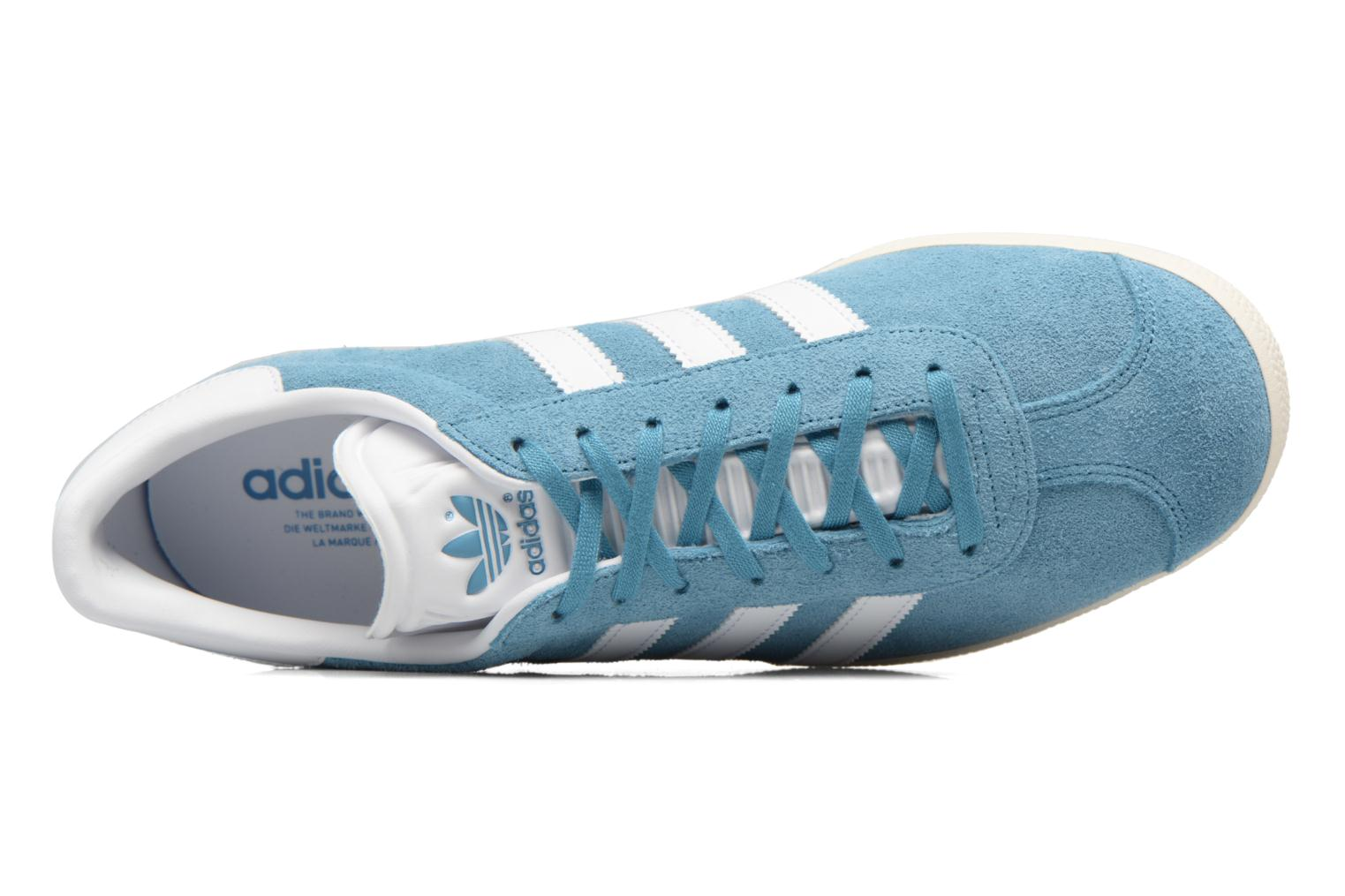 Baskets Adidas Originals Gazelle Bleu vue gauche