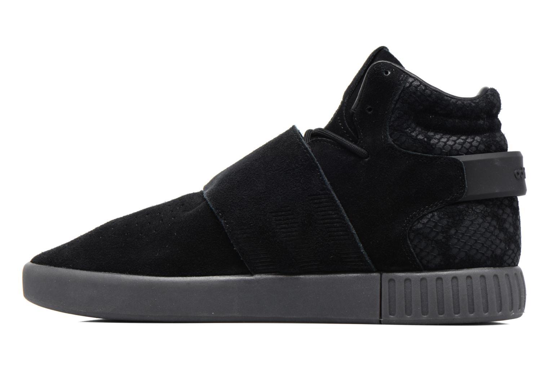 Sneakers Adidas Originals Tubular Invader Strap Zwart voorkant