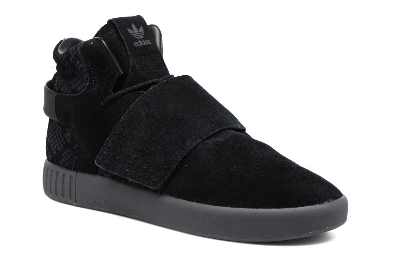 Sneakers Adidas Originals Tubular Invader Strap Zwart detail