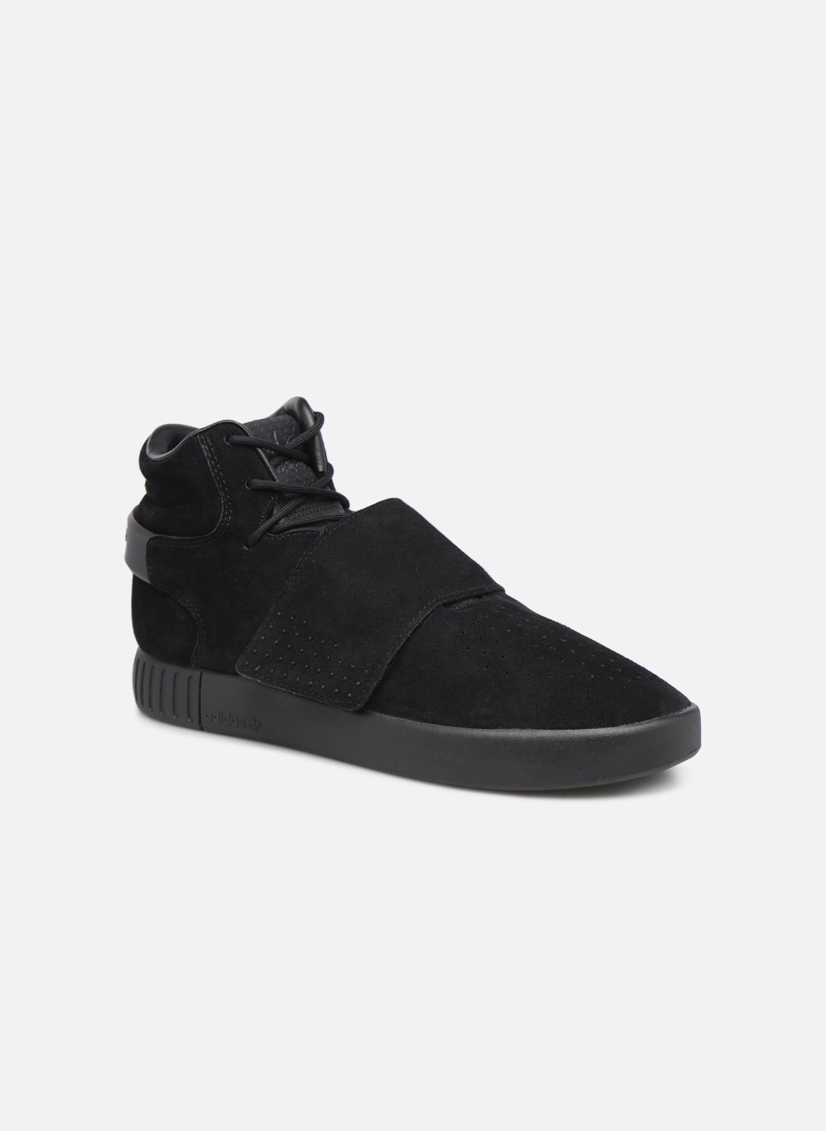 Baskets Adidas Originals Tubular Invader Strap Noir vue détail/paire