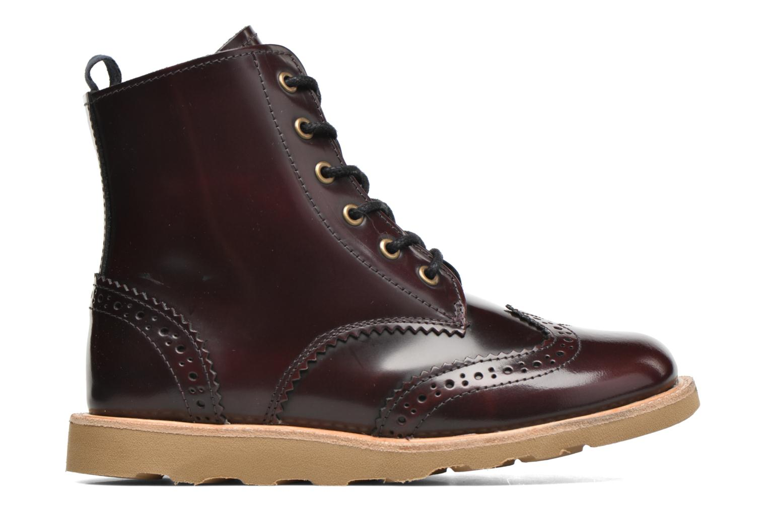 Sidney Oxblood High Shine Leather