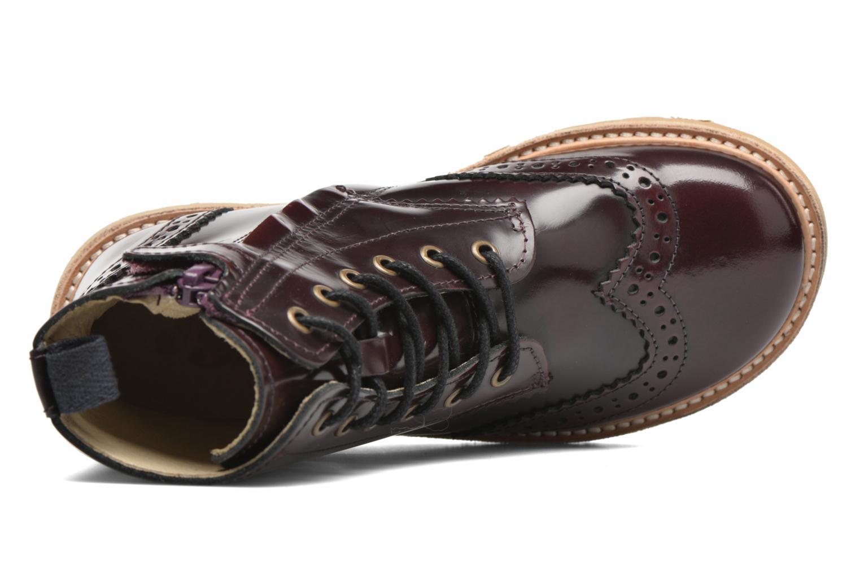 Bottines et boots Young Soles Sidney Bordeaux vue gauche