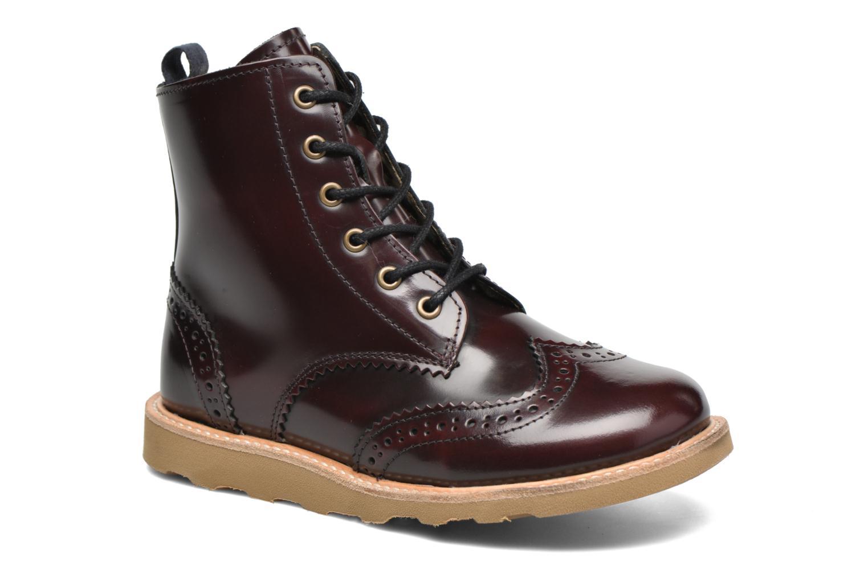Bottines et boots Young Soles Sidney Bordeaux vue détail/paire