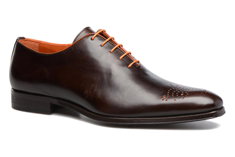 Snøresko Marvin&Co Luxe Perrowne Brun detaljeret billede af skoene