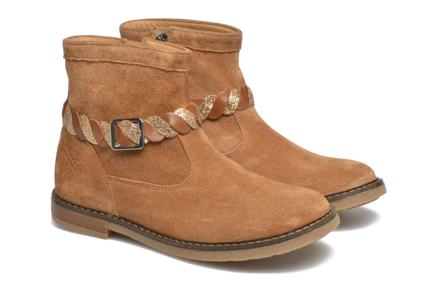 Bottines et boots Pom d Api Trip Twist Marron vue 3/4