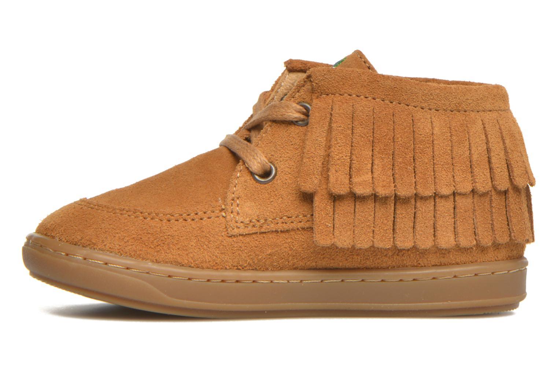 Chaussures à lacets Shoo Pom Bouba Yaka Marron vue face